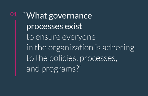 What governace processes exist