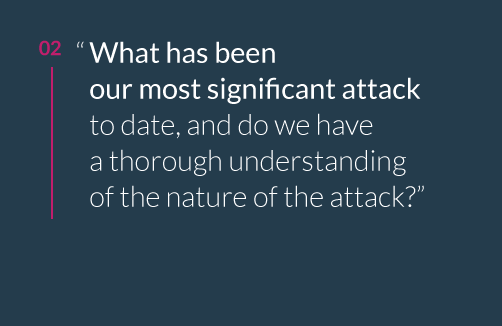 What Has Been our most Significant Attack