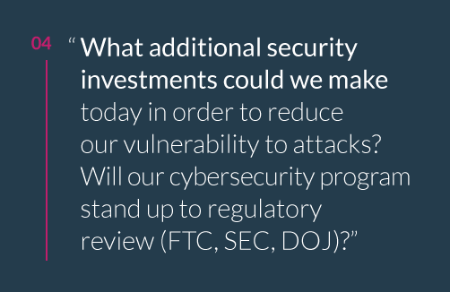 What additional security investments could we make