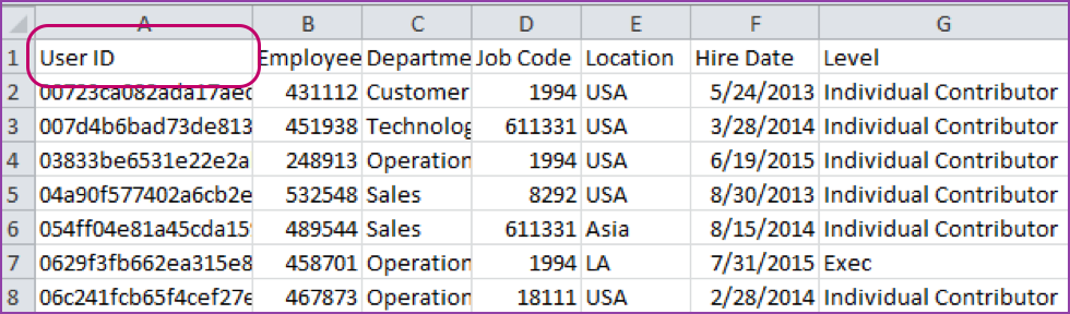 Filtering Reports